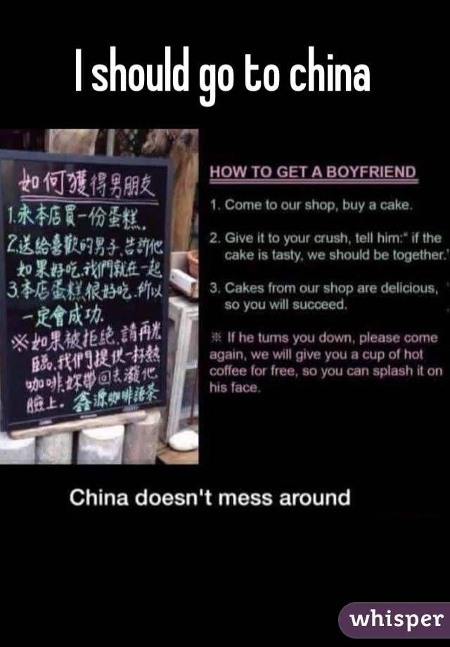 I should go to china