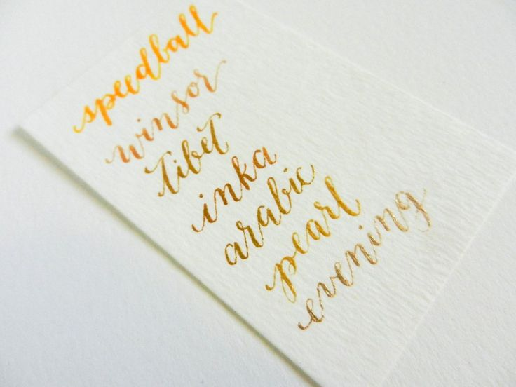 Gold Calligraphy Ink   The Postman's Knock