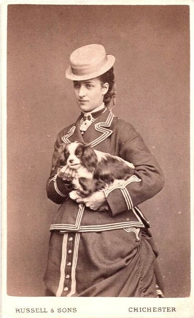 Princess Alexandra of Wales and her Cavalier King Charles