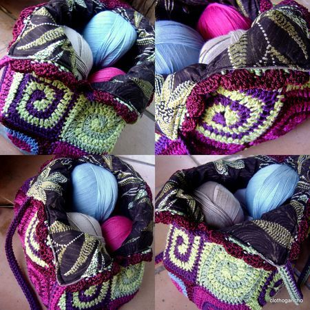 love this bag!: Crochet Handles, Crafts Ideas, Crafts Crochet, Crochet Bags, Crochet Patterns, Crochet Knits, Spirals Crochet, Crochet Crochet Crochet, Blatt Bags