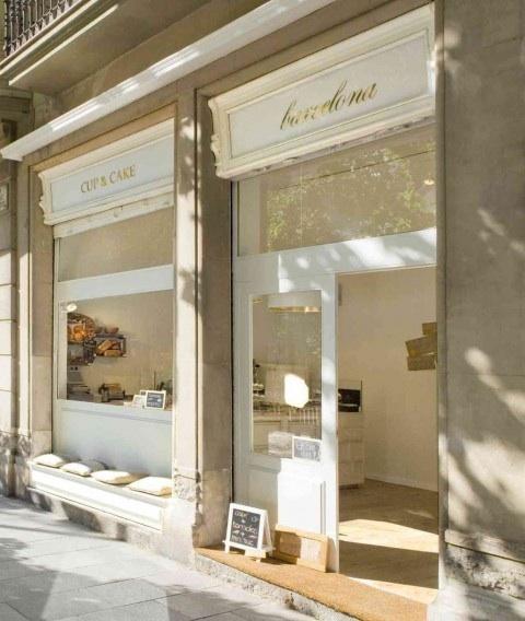 Cup & Cake Shop Facade - Barcelona, Spain