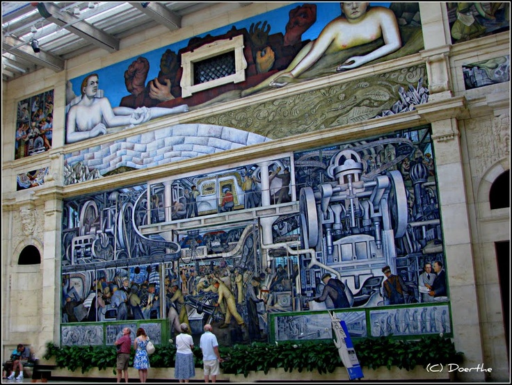 25 best daniel libeskind images on pinterest for Diego rivera detroit industry mural