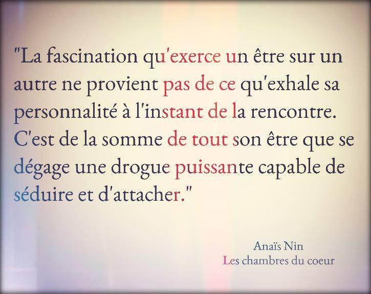 "Anaïs Nin ""Les chambres du coeur"" <3"