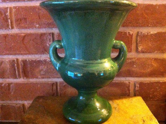 Vintage Art Pottery  McCoy Pottery Vase  Augusta by delovelyness