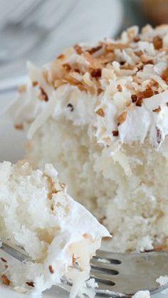 Torta de crema de coco, excelente opción para el postre
