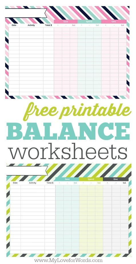 printable balance sheet diy ideas pinterest budgeting