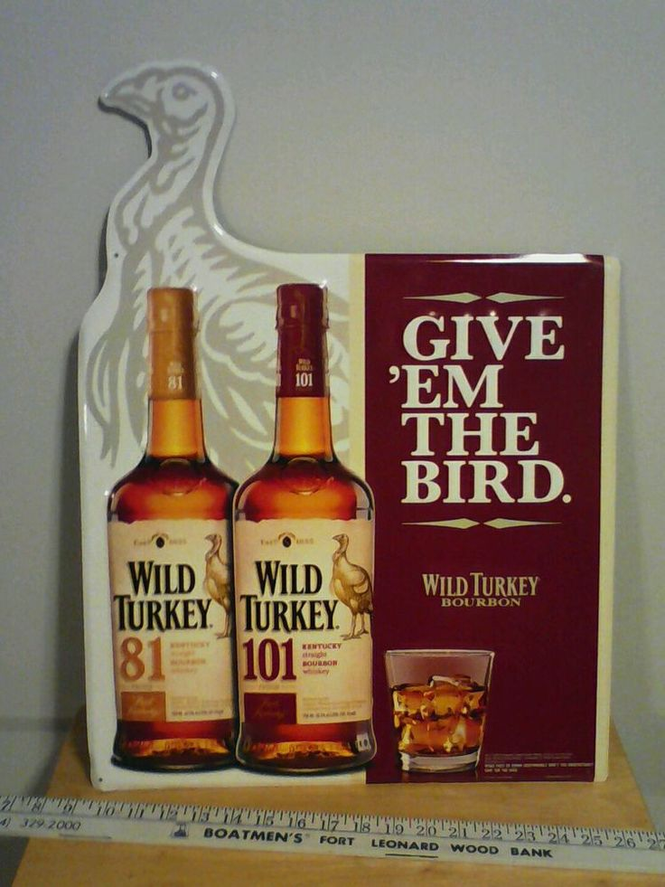 Wild Turkey Bourbon Metal Sign Used But Is Good Shape