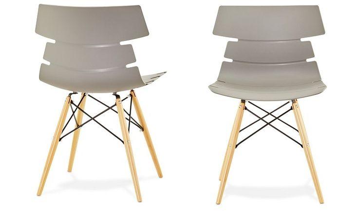 Chaise de salle a manger scandinave grise - Chaise danoise grise