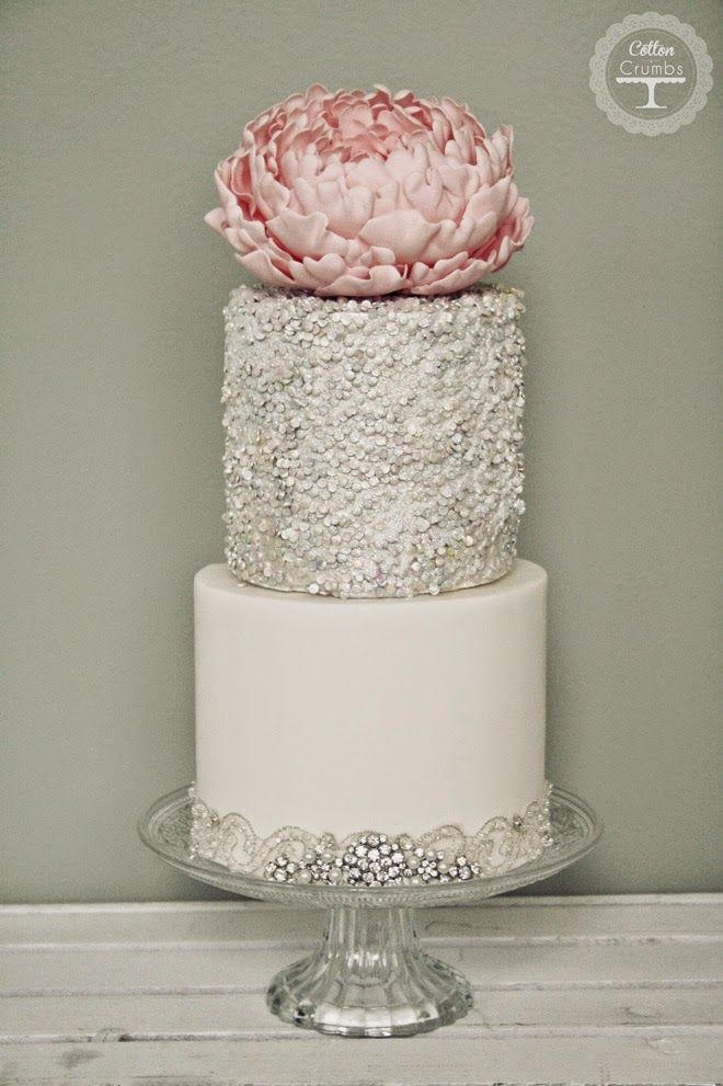 Metallic Wedding Cake | bellethemagazine.com