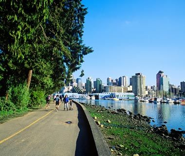 Kitsilano is featured as having some of nicest walks in the world. Try it out in your comfortable shoes from SKYE Footwear.
