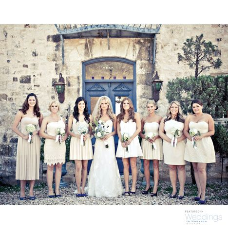 Cream bridesmaids dresses ~ Photo: Select Studios