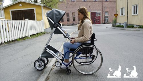 Finally a stroller for wheelchair using mothers!