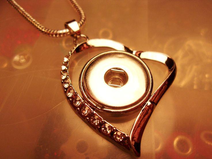 Valentine's Heart Snap Pendant-Heart Snap by CharmedHeartz on Etsy
