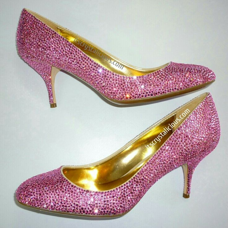 Rose coloured Genuine SWAROVSKI® embellished #coach heels, strassed for a customer in Chicago USA   Send your shoes to us to be custom embellished for your special event. Email info@itscrystalicious.com.