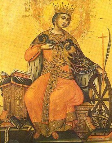 Icon of St. Catherine of Alexandria from St. Catherine's Monastery on Mt. Sinai