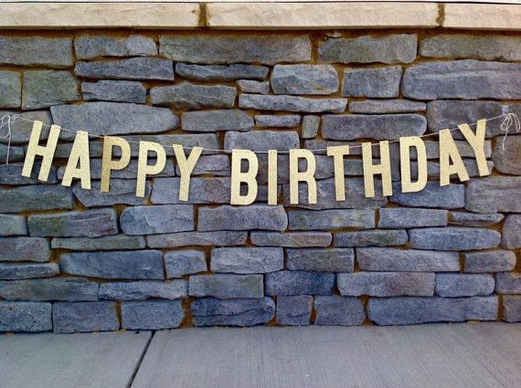 Hi there!  This listing is for Gold Glitter HAPPY BIRTHDAY Banner.  Letters measure 6 INCHES TALL X 3 INCHES WIDE.  This Banner measures