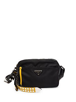 4aa070d60e1 td {border: 1px solid #ccc;}br {mso-data-placement:same-cell;}--></style>Prada  Black Nylon Shoulder Bag with Studding