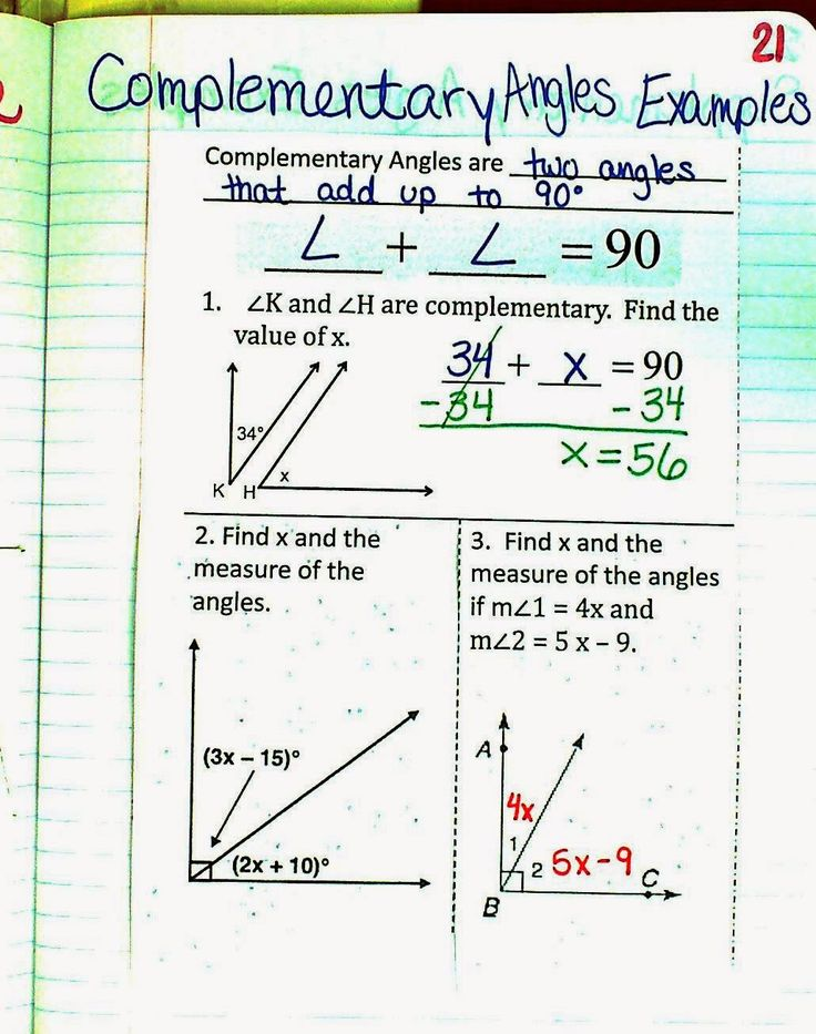 Mrs. Atwood's Math Class Angle Relationships Unit Angle