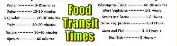 Food Transit Times
