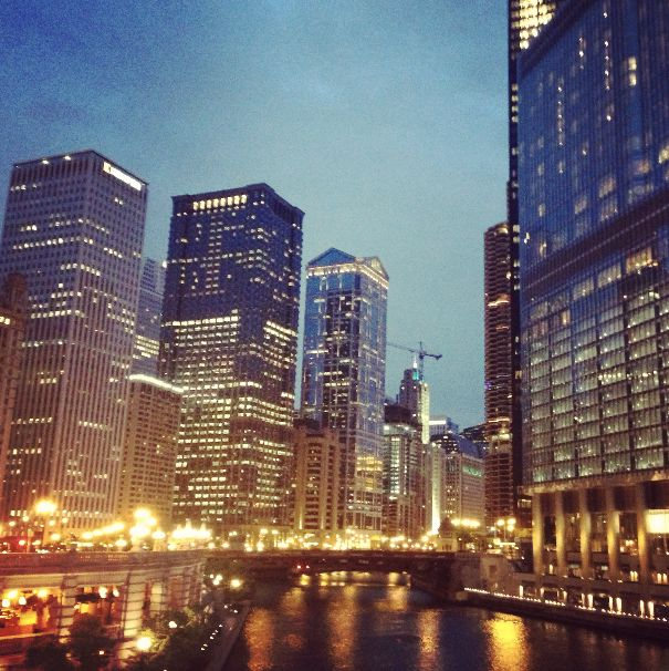 Nighttiming on the Chicago River