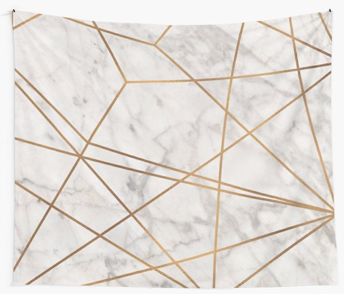 Golden Poly Marble Tapestry by theroyalsass
