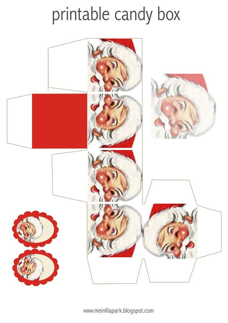 FREE printable Santa Claus candy box: