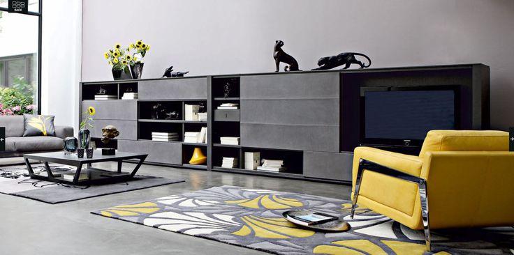 grey room with yellow accents - Google zoeken