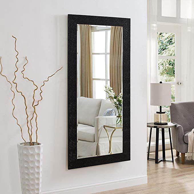 Amazon Com Naomi Home Mosaic Style Mirror Black 61 X 31 Home Kitchen Floor Mirror Home Mirror