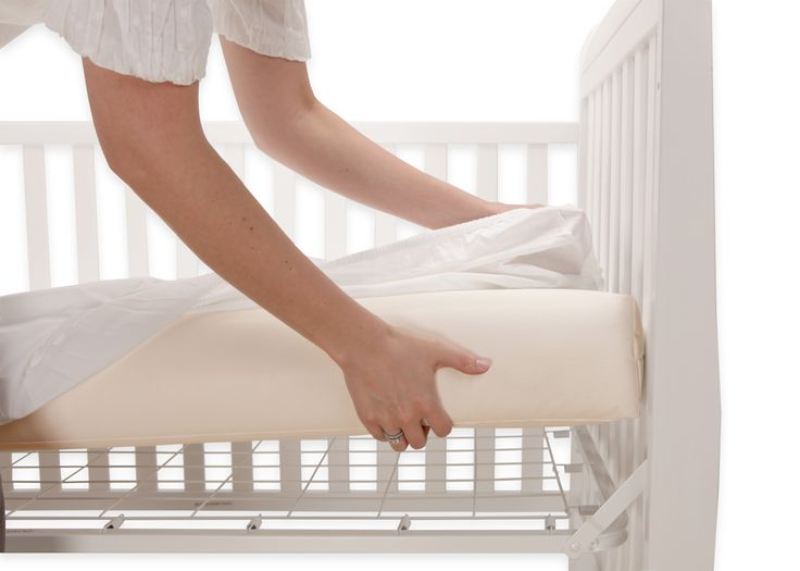Weighing only 7 lbs, our Healthy Support Crib Mattress makes sheet changing a breeze! #baby #nursery #nontoxic #cribmattress #mom #pregnant #babyregistry
