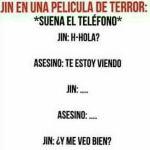 Así se hace Jin, hay que morir hermoso. :3