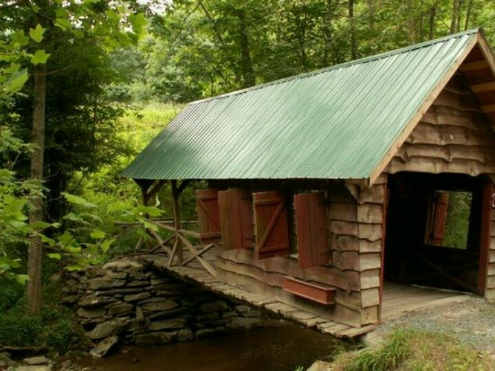 Beautiful covered bridge in Boone, NC