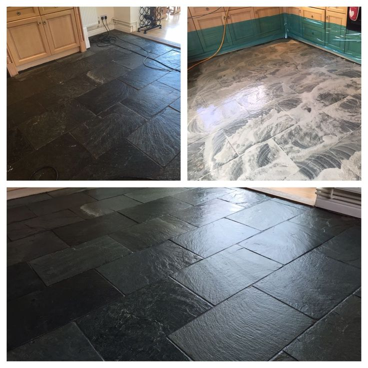 Slate floor clean and seal bristol this slate floor had for Floor clean out