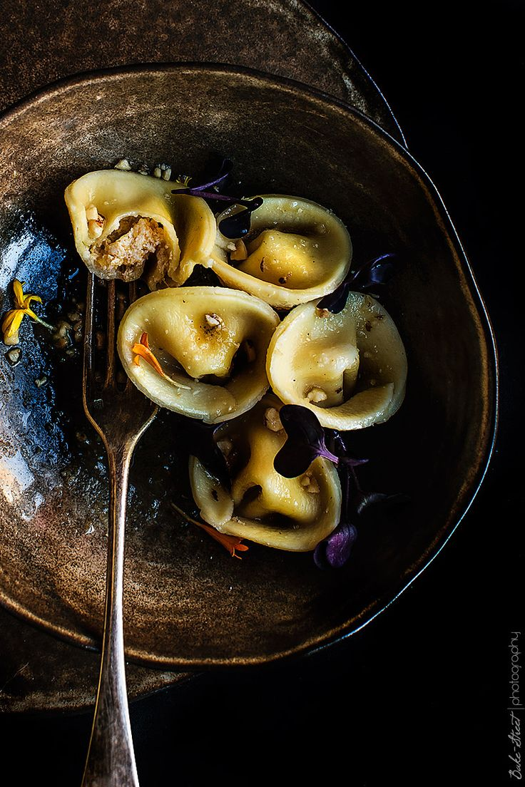 pumpkin tortellini with white truffle salt