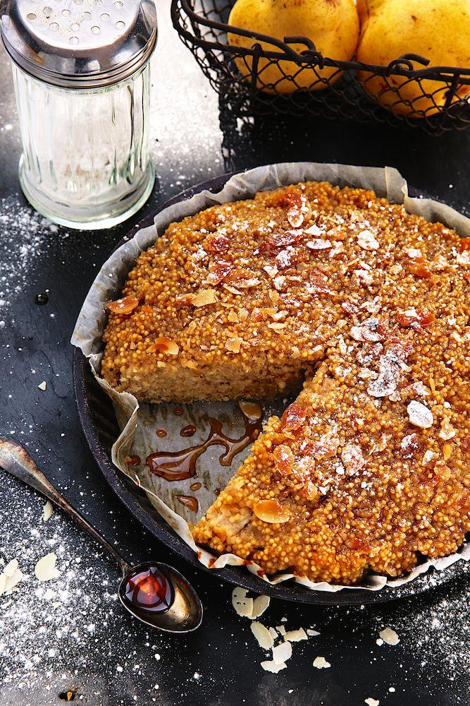 Saveurs Végétales: ► Gâteau de millet aux poires (sans gluten)
