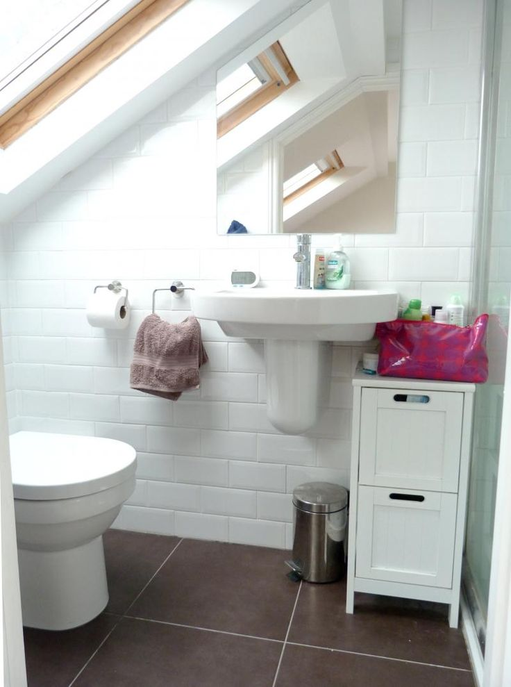Delectable 40 small bathrooms under eaves design for Small ensuite ideas pictures