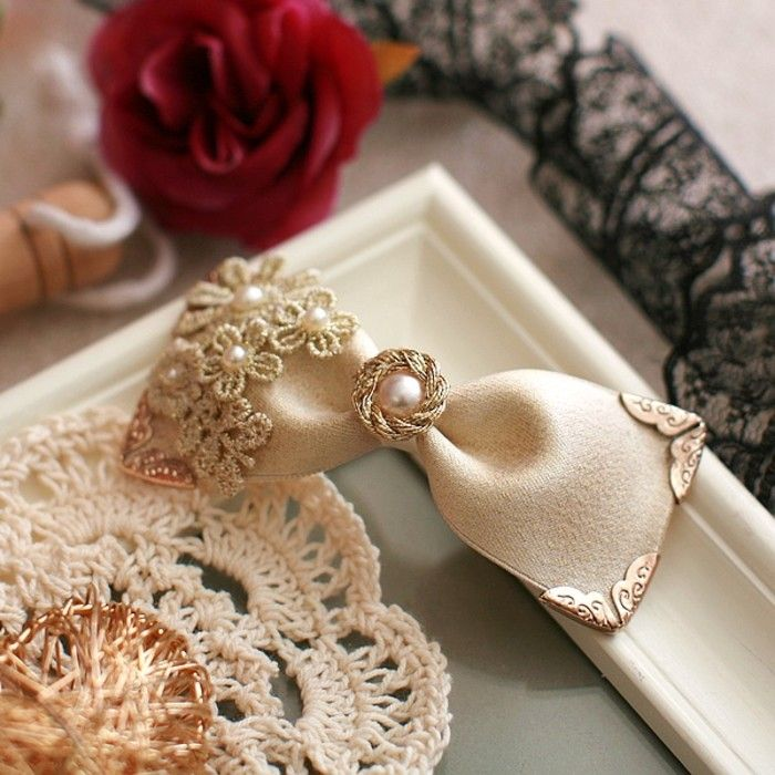 Export of small gifts Korea handmade lace bow hair accessories headdress side folder top folder hair plug hair band M