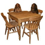 Beautiful stunning pine table and chair set