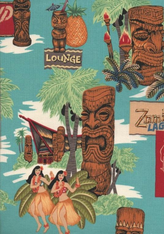 Tiki lounge textile pattern