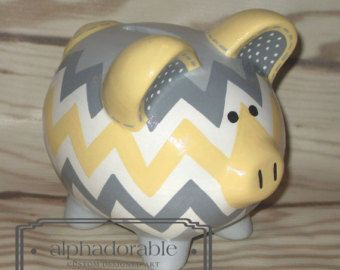 Popular items for piggy bank on Etsy