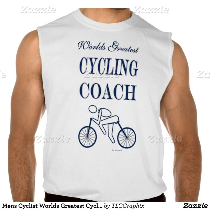 Mens Cyclist Worlds Greatest Cycling Coach Athlete Sleeveless Shirts Tank Tops