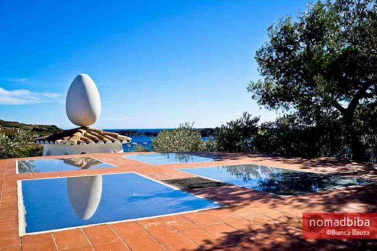 Stepping Into Salvador Dali's Surreal World Egg sculpture at Casa Museu Salvador Dalí in Port Lligat, Spain