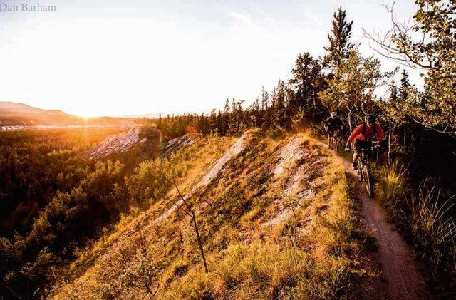 Biking the trails of the Yukon - Photo by Dan Barham