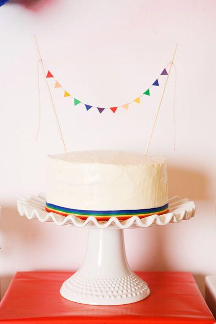 Rainbow cake - I like the simplicity