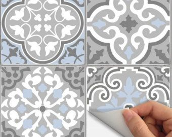 Wall Tile Decals Vinyl Sticker WATERPROOF Tile or Wallpaper for Kitchen Bath Stair Risers Bmix3
