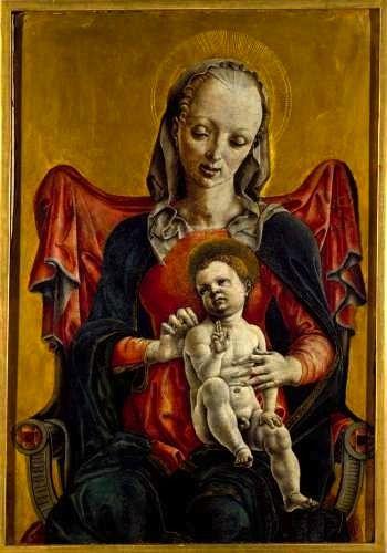 Cosmè Tura, Madonna col Bambino, seconda metà 1400, tempera su tavola, Raccolta Guglielmo Lochis