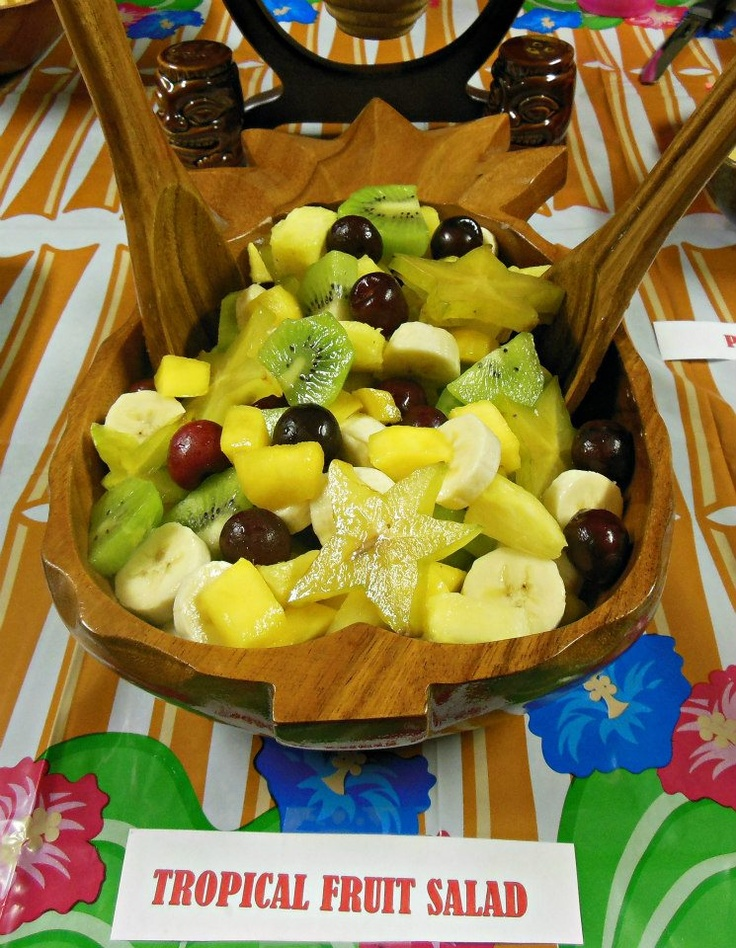 """logansw196 Sherri Williams This is my healthful Tropical Fruit Salad I served for my Hawaiian Themed New Years Eve Party.  My salad consisted of pineapple, mango, bing cherries, bananas, kiwi  star fruit.  It was a BIG hit.  sw☺  #WIN  #contest.  please """"like"""" and comment."""