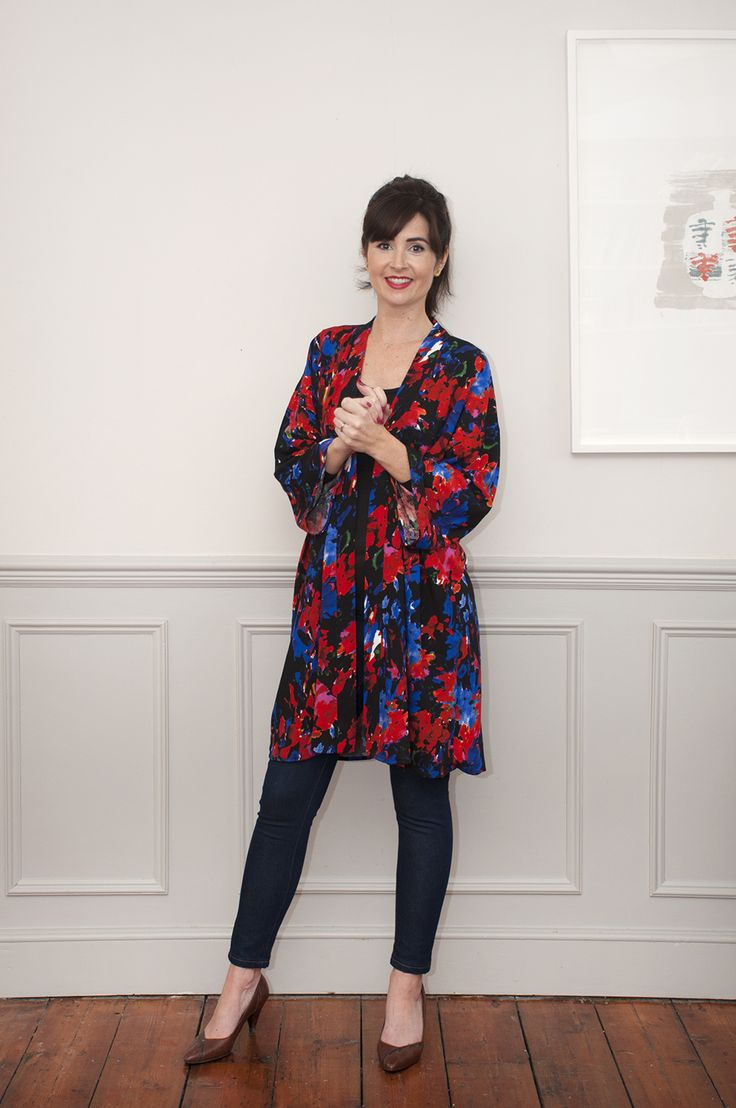 Sew Over It Kimono Jacket sewing pattern - the logn version makes a super cool spring layer