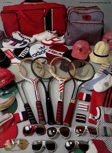 1978's tennis accessories.