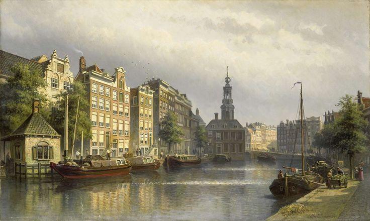 The Singel, Amsterdam, looking towards the Mint., Eduard Alexander Hilverdink, 1884 - 1886