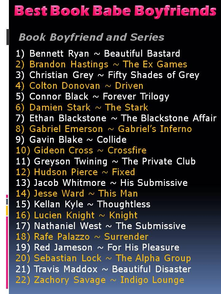 Like Fifty Shades of Grey? Check out my list of favorite book babe boyfriends!